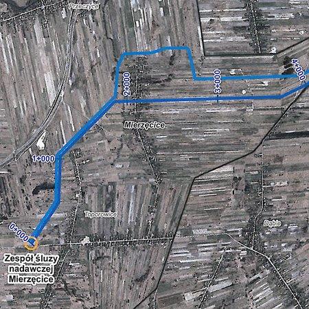 Mapa poglądowa trasy gazociągu (topografia)